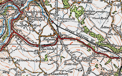 Old map of Nelson in 1919