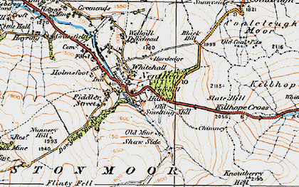 Old map of Nenthead in 1925