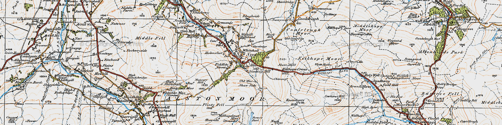 Old map of Whitehall in 1925