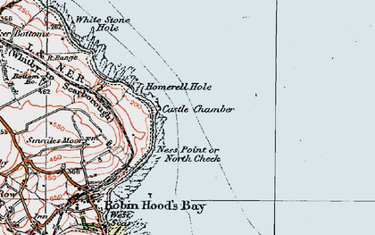 Old map of White Stone Hole in 1925