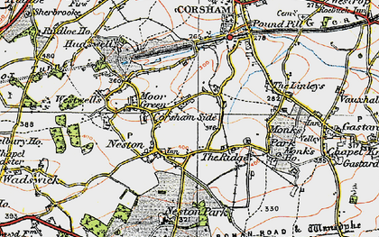 Old map of Neston in 1919