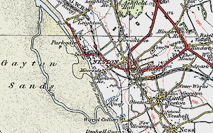 Old map of Neston in 1924