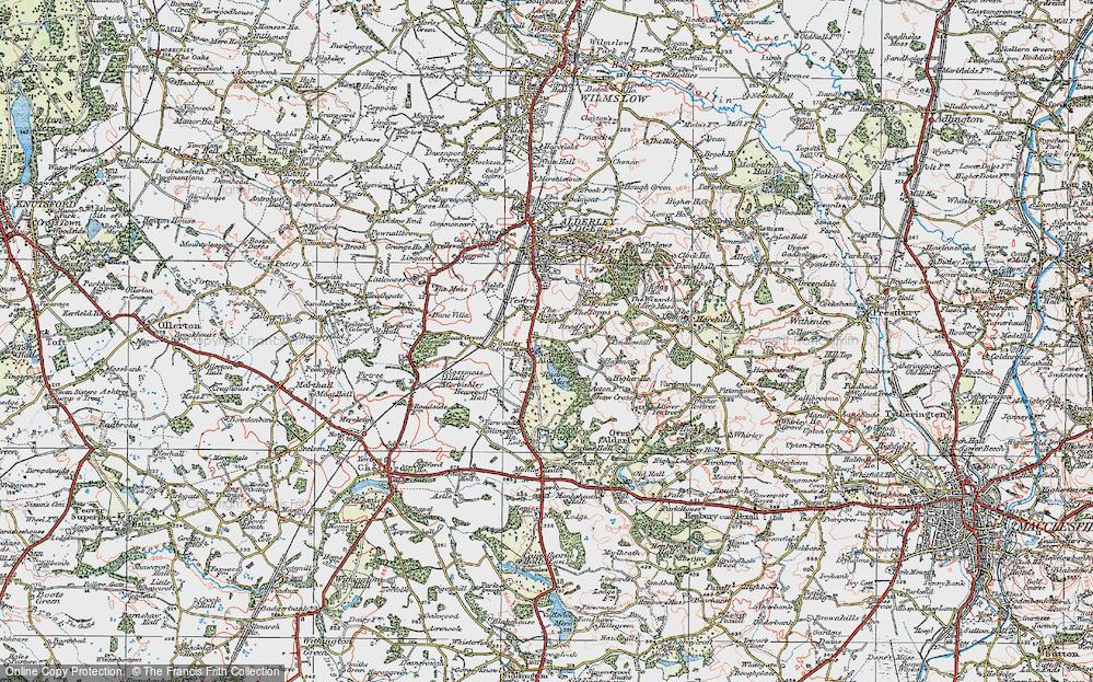 Old Map of Nether Alderley, 1923 in 1923