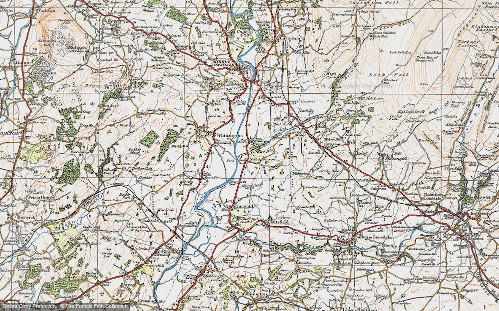 Old Map of Nether Burrow, 1925 in 1925