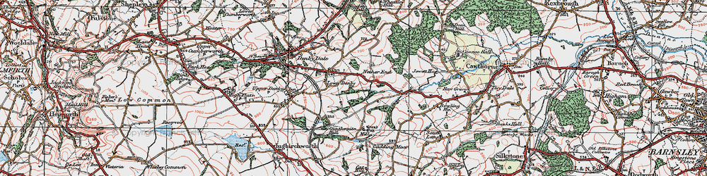 Old map of Ackin Royd in 1924