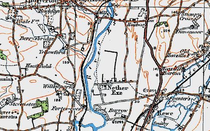 Old map of Yellowford in 1919