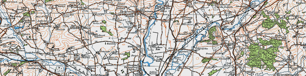 Old map of Willowpark in 1919