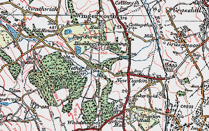 Old map of Nether Moor in 1923