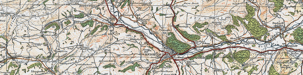 Old map of Whitterleys, The in 1920