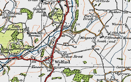 Old map of Wynches in 1919