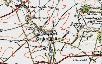 Old map of Nether Wallop in 1919