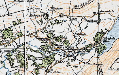 Old map of Yew Tree in 1925
