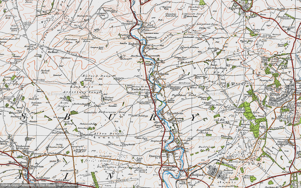 Old Map of Netheravon, 1919 in 1919