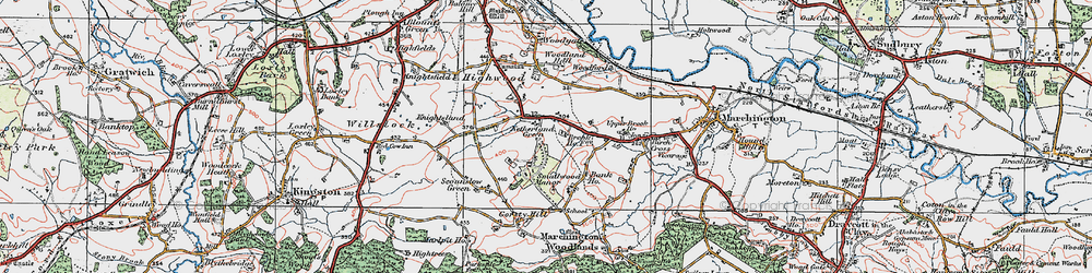 Old map of Woodford in 1921