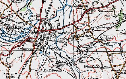 Old map of Netherthorpe in 1923
