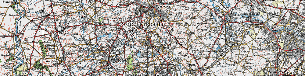 Old map of Netherton in 1921