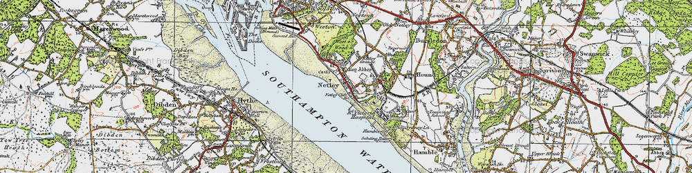 Old map of Netley in 1919
