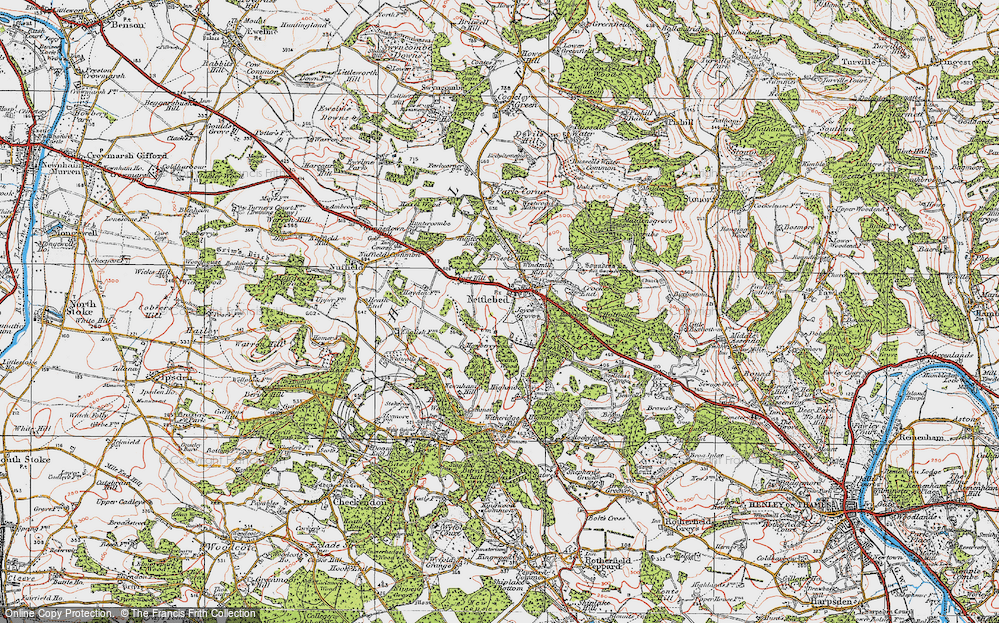 Old Map of Nettlebed, 1919 in 1919