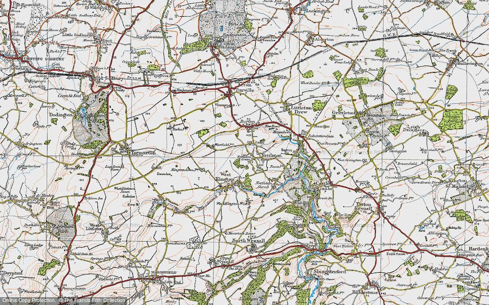 Old Map of Nettleton, 1919 in 1919