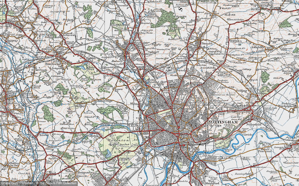 Old Map of New Basford, 1921 in 1921