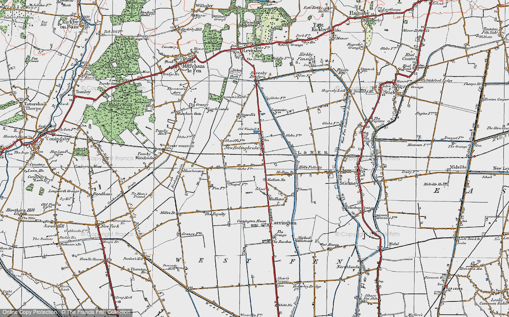 Old Map of New Bolingbroke, 1923 in 1923