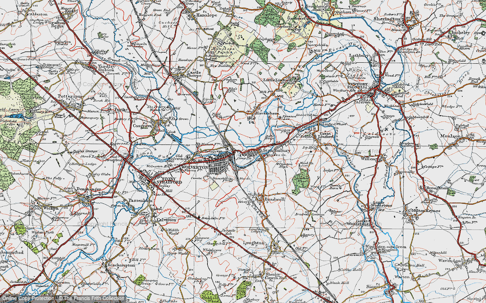 Old Map of New Bradwell, 1919 in 1919