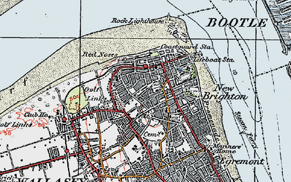 Old map of New Brighton in 1923