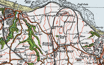 Old map of New Brotton in 1925