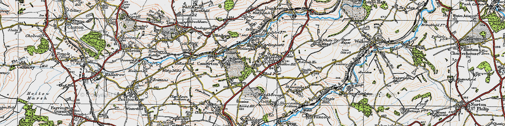 Old map of Woodborough Ho in 1919