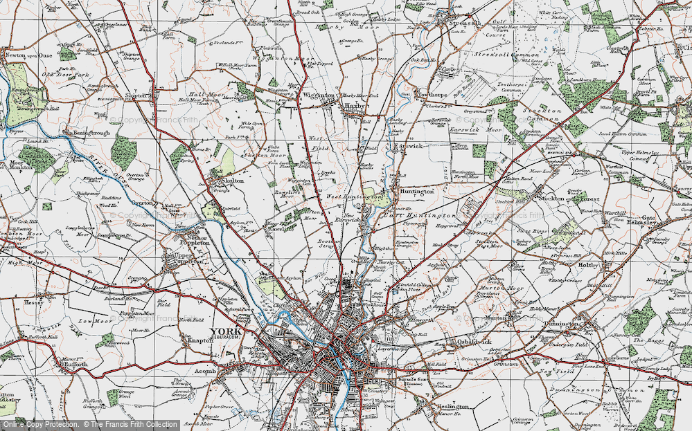 Old Map of New Earswick, 1924 in 1924