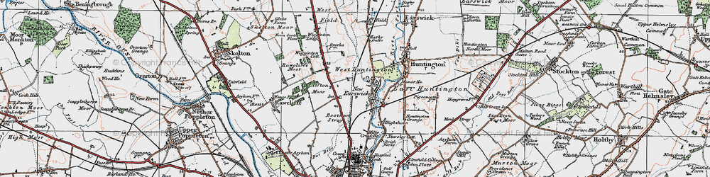 Old map of New Earswick in 1924