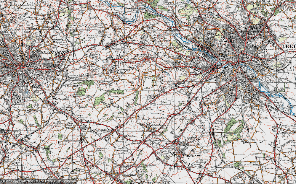 Old Map of New Farnley, 1925 in 1925