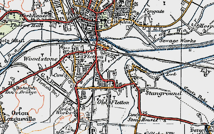 Old map of New Fletton in 1922