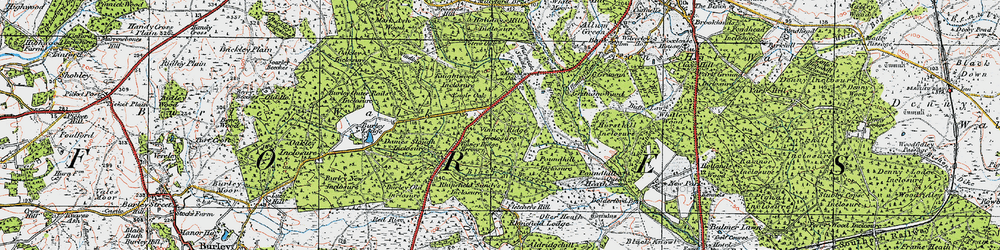 Old map of Winding Shoot in 1919