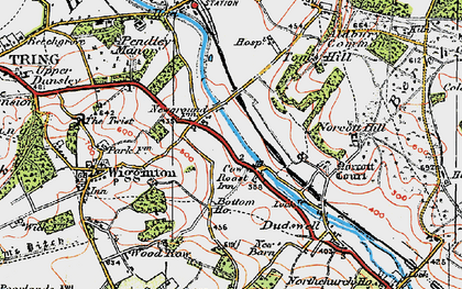 Old map of New Ground in 1920