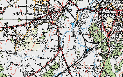 Old map of New Haw in 1920