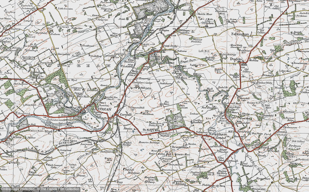 Old Map of Historic Map covering Tiptoe in 1926