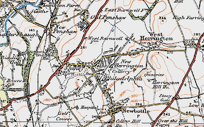 Old map of New Herrington in 1925