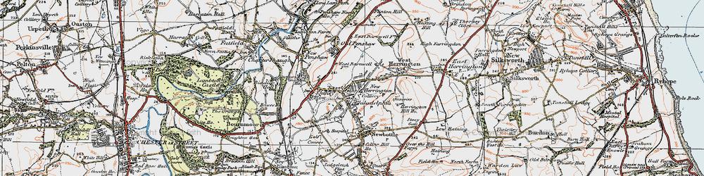Old map of New Herrington in 1925
