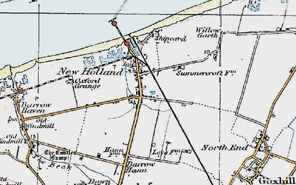 Old map of New Holland in 1924