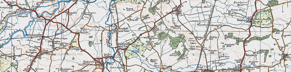 Old map of Winking Hill in 1921