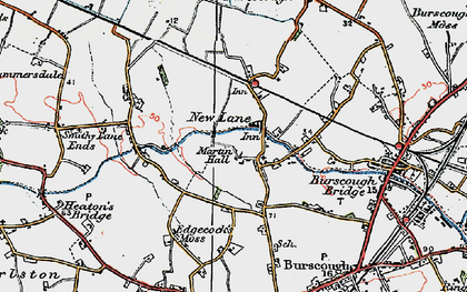 Old map of Leeds & Liverpool Canal in 1923