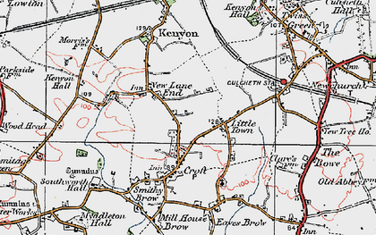 Old map of New Lane End in 1924