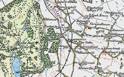 Old map of Yarwood Ho in 1923