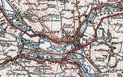 Old map of Whitle in 1923