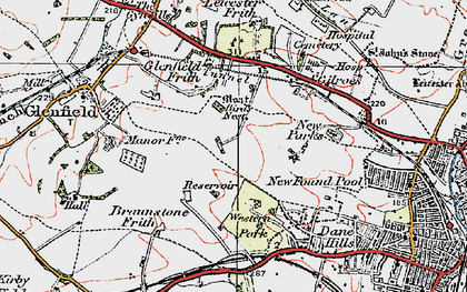 Old map of New Parks in 1921