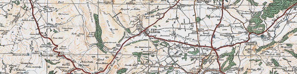 Old map of Whinyard Rocks in 1920
