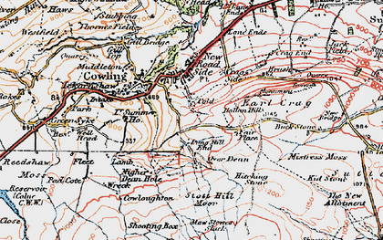 Old map of Bare Hill in 1925