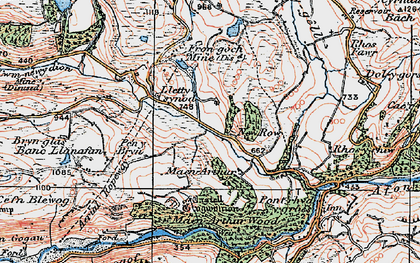 Old map of New Row in 1922