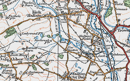Old map of New Stanton in 1921